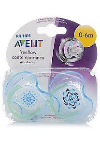 Chupeta Contemporânea 0 à 6 meses menino Philips Avent