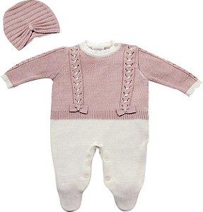 Macacão Bebê Chanel Feminino Com Touca Noruega