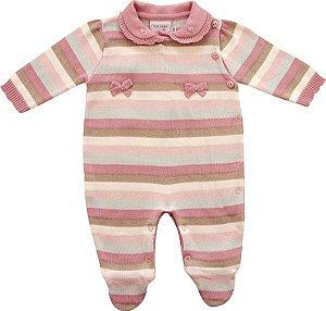 Macacão Bebê Com Touca Listrado Noruega