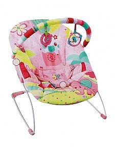 Cadeira de Descanso Musical 11kg Elefante Pink Mastela