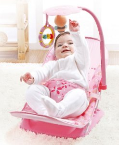 Cadeira de Descanso Portátil Rosa Mastela