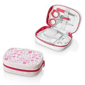 Kit Higiene Infantil Rosa Multikids 6 peças