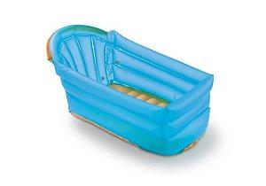 Banheira Inflável Para Bebê Azul Multikids