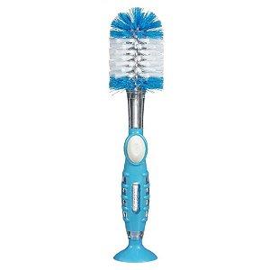 Escova para Mamadeira Com Recipiente Azul Munchkin