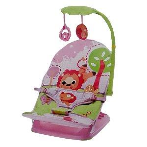 Cadeira Musical e Vibratória Portátil Pink Mastela