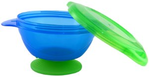 Tigela com Ventosa Click Lock Azul e Verde Munchkin
