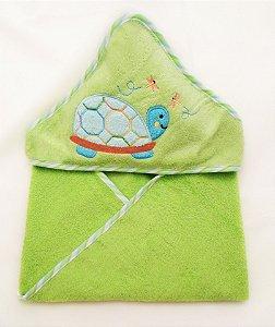 Toalha com Capuz Verde Clingo