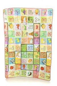 Tapete Infantil Portátil Para Bebê Alfabeto 180 x 120cm EBYE