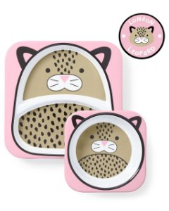 Set de pratos zoo Leopardo Skip Hop