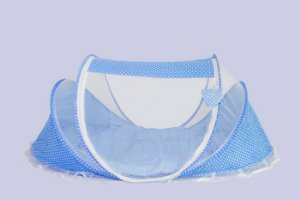Berço Mosquiteiro Premium Azul Happy Baby