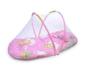 Berço Mosquiteiro Rosa Happy Baby