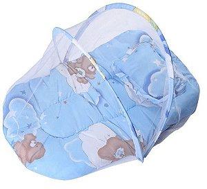 Berço Mosquiteiro Azul Happy Baby