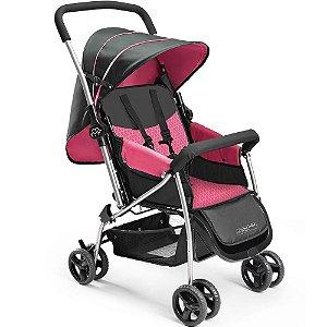 Carrinho de Bebê Flip Berço Rosa Multikids Baby