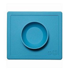Jogo americano com bowl acoplado azul ezpz