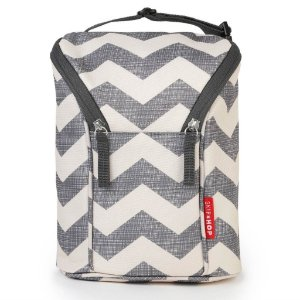 Bolsa térmica para mamadeira Double Bottle Bag Chevron Skip Hop
