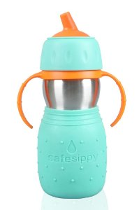 Garrafinha infantil Safe Sippy verde 330 ml Kid Basix