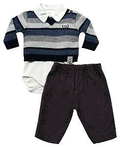 Conjunto body, calça e sweater Noruega
