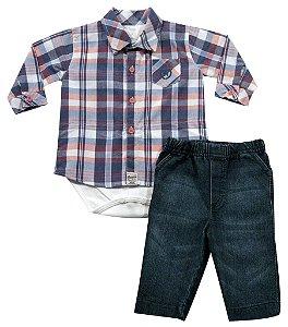 Conjunto de camisa body e calça jeans Noruega