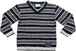 Sweater com listras mesclas Noruega