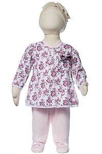 Macacão bebê com bata floral Keko