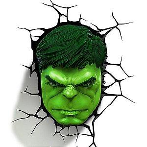 Luminária Avengers Rosto Do Hulk - 3d Light