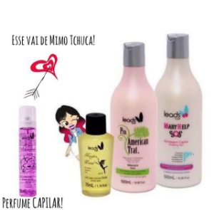 Passe de Mágica ( Mary Help 500 ml + Másc American Trat 500 ml + Magic Wand 35 ml + Perfume 30 ml GRÁTIS )