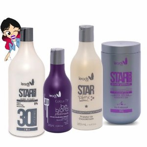 Platinados Perfeitos ( Másc Tonalizante Be Blond Platinum 300 ml + Protetor Star Plex 500 ml + Ox 30 Volumes 900 ml + Pó Power Platinum 500 gr )