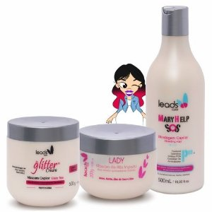 Tratamento Impactante ( S.O.S Mary Help 500 ml + Másc Glitter Cream 500 gr + Másc Alto Impacto Lady 300 gr )