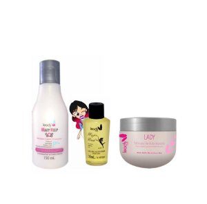 Cronograma Perfeito ( Mary help 150 ml + Magic wand + Lady Másc. de Alto Impacto 300 gr)