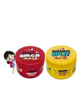 Cabelo Vitaminado Banana Split Mask 300g + Maça do amor Mask 300g