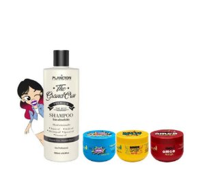 Shampoo que Alisa The Grand Cru 500ml + Boom Mask 300g +Banana Split Mask 300g + Maça do Amor Ante Age Capilar 300g
