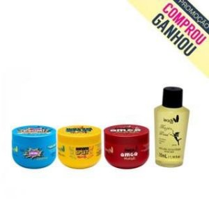 Fofuras potentes (Maça do Amor anti age 300g + Banana Split Mask 300g + Boom Mask 5min 300g) GANHOU UMA MAGIC WAND!