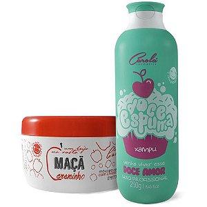 Dupla Doce de Maçã Carola ( Maçã Creminho 300g + Xampú Foce espuma redutor de volume 250ml)