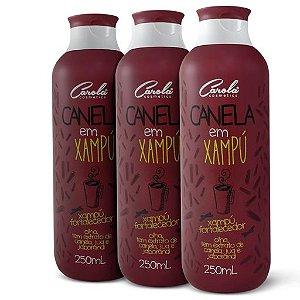 Trio Canela em Xampu ( 3 embalagens de 250ml cada)