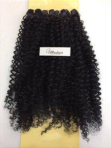 Kit Fibra Orgânica (Hair Dreams- Hair World) Cacho Médio - Cor Preto - Todas peças no tamanho de 55cm - Total 120 Gramas - 80cm de Tela em cada Peça