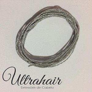 Cordão UltraHair Prata para Tranças, Twists ou Dreads - 2 metros