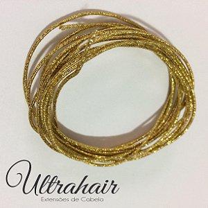 Cordão UltraHair Dourado para Tranças, Twists ou Dreads - 2 metros