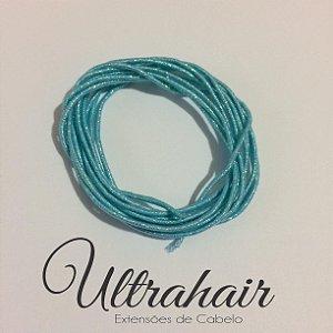 Cordão UltraHair Azul Bebê com Brilho para Tranças, Twists ou Dreads - 2 metros