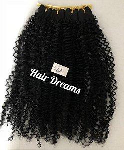 Fibra Orgânica Hair Dreams - 55 cm - Cor Preto - 120 gramas - 04 Telas com 86cm de largura cada