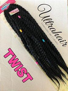 Twist - 55 cm - Cor Preto - 110 gramas - (Vem com 03 Berloques de Brinde)
