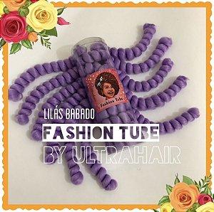 FASHION TUBE - FIBRA PARA CROCHET BRAIDS - COR LILÁS BABADO 200 Gramas (Tamanho: 22cm Dobrado - 44cm Aberto)
