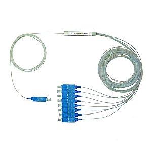 Splitter Óptico PLC Conectorizado 1x8 SC/UPC - Azul