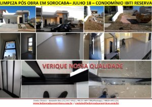 Limpeza pós obra em condomínios em Sorocaba - Alta qualidade comprovada!