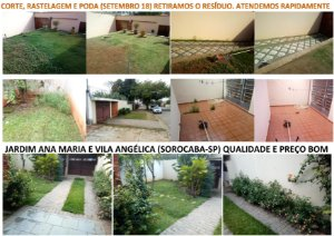 Jardinagem especializada - Corte de grama, poda e limpeza de jardim.