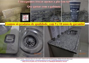 Instalação e furação em pias de granitos ou mármores com garantia