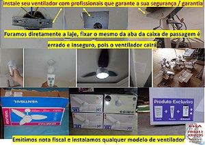 Instalação de ventilador de teto com controle remoto