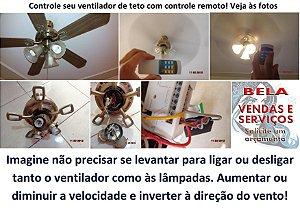 Automação, Instalação e manutenção de ventilador de teto - Aceitamos cartão de crédito.