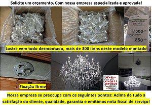 Instalação de lustre, iluminação em geral, manutenção, limpeza e substituição