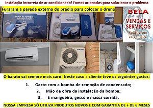 Instalação de bomba de remoção de condensado (Ar Condicionado)