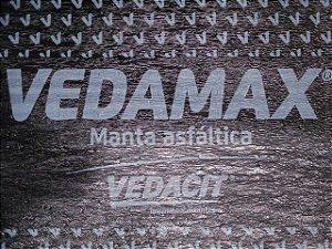 Manta Asfáltica Vedamax Glass 3mm Preto Vedacit (7 Metros)